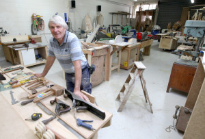 The craftsman at his bench
