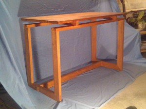 Writing desk, hand-crafted joints, influenced by Alan Peters, 1985